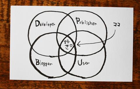 「開発者」と「出版関係者」と「ユーザー」と「ブロガー」