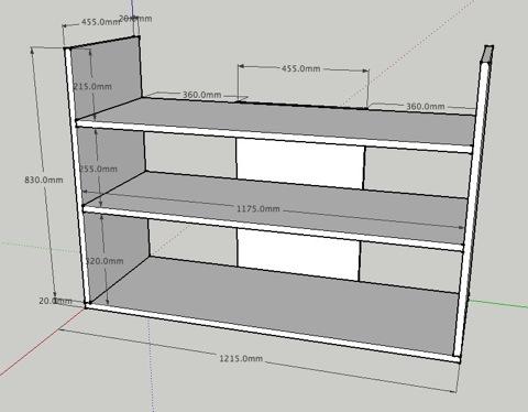アトリエの押し入れに、手作り本棚を、ぶっ込む。