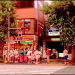 双子と妻と友人と、高円寺の阿波踊り