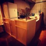 我が家のオープンキッチン、扉エリア完成。