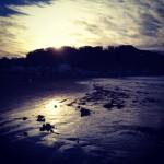 2013年、鎌倉の海岸で、初日の出。あけましておめでとうございます。
