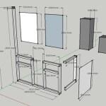 鎌倉の新居のオープンキッチン、まずは扉の部分から手作りする。