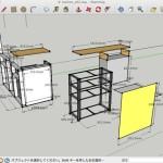 我が家の手作りオープンキッチン Version 0.2 設計図完成。