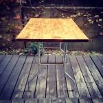 我が家のガーデンテーブル完成