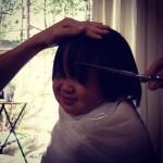 3才双子の前髪