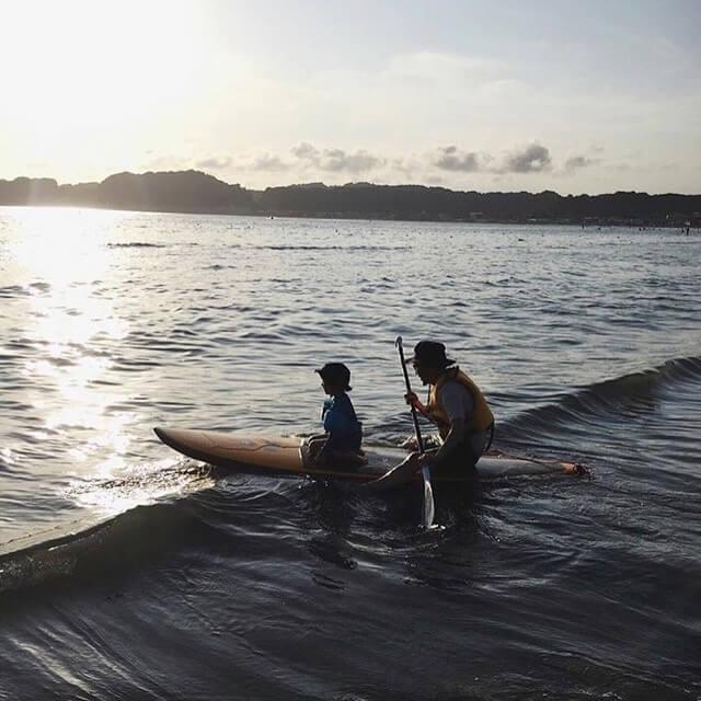 材木座海岸でSUP