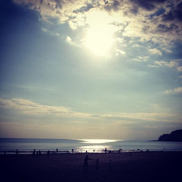 初夏の由比ヶ浜